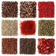 Assortment of peppercorns and chili