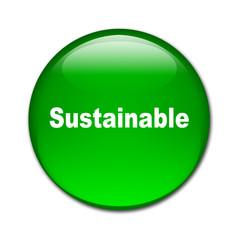 Boton brillante texto Sustainable