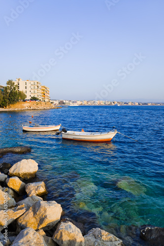 Town Loutraki in Greece