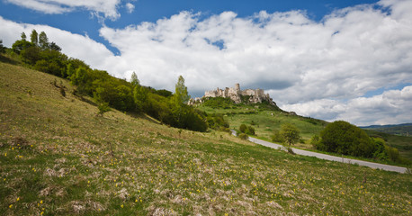 Spissky hrad castle in Slovakia,UNESCO world heritage listed mon