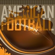 Designed american football banner.