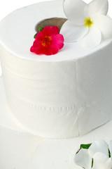 fleurs sur rouleaux de papier toilette