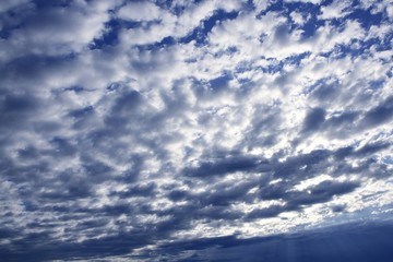Blue sky white clouds in a summer clean day,  texture
