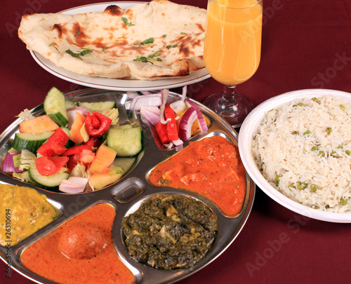 south asian veggie thali combo