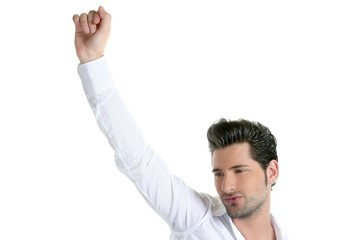 Successful young man gesture expression