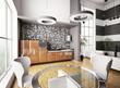 Küche Interior 3d render