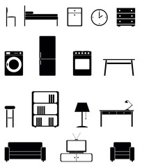 Interior icon set