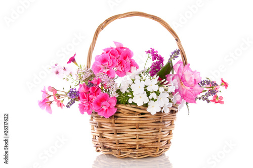 colorful garden bouquet isolated over white