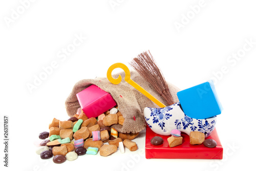 Dutch celebration Sinterklaas with candy and gifts