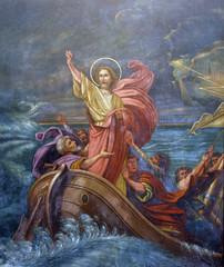 Jesus Calms a Storm on the Sea