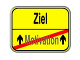 Motivation - Ziel poster