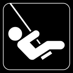 child swinging vector