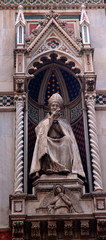 Pope Statue Duomo Cathedral Florence Italy
