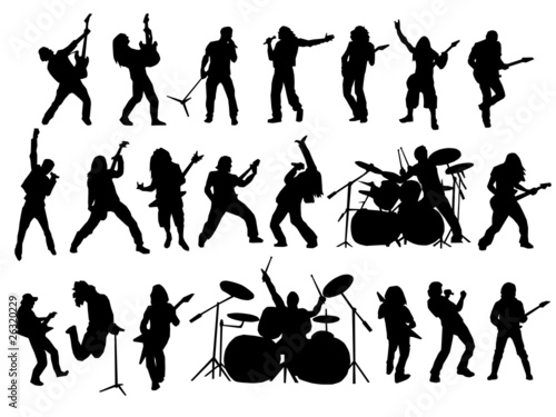 rock and metal vector collection - 26320229