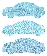 Textured car