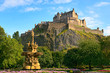 Edinburgh Castle, Scotland, with Ross Fountain in foreground
