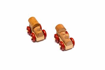 Два маленьких паровозика