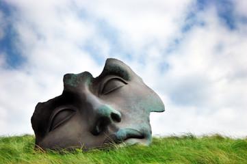 """Sculpture """"Light of the Moon"""" near the Beelden aan Zee Museum"""