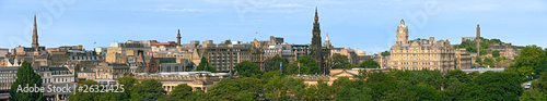 East End of Princes Street, Edinburgh, Scotland, panorama