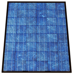 Photovoltaic solar cell panel collector with clipping path