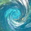 Leinwandbild Motiv Water Twist Abstract