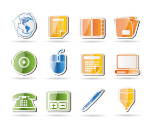Business and Office tools icons  vector icon set 2
