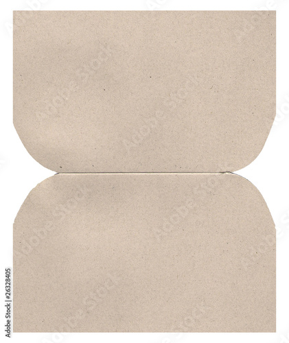 Brown cardboard sheet background