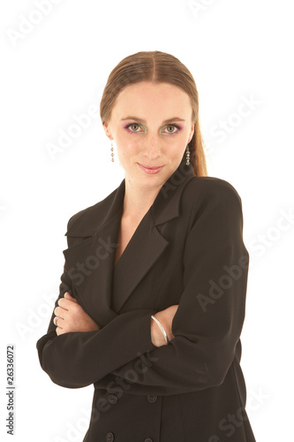 Young Caucasian businesswoman