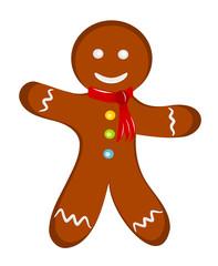 Gingerbread man dressed