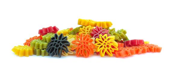 Pasta Italian multicolor lovely star shaped