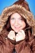 freezing girl in jacket