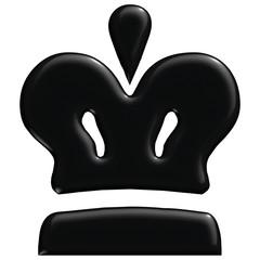 Schach Figur König schwarz