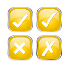 neon Gelb Icon Set