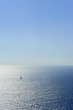 a sailing boat in the aegean sea