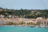 Panoramic view of port and town Zakynthos, Greece.