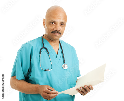 Handsome Doctor with Chart