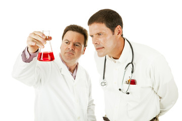 Doctor Working With Scientist
