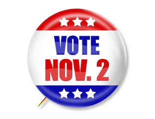 Vote Nov. 2nd Button