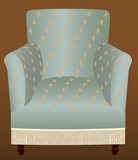 Fringed armchair poster