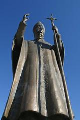 Pope John Paul II statue in Marija Bistrica , Croatia