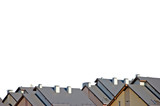 Rowhouse Rooftops, Isolated poster