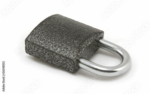 Padlock isolated on white.