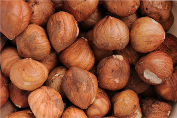 Raw Hazelnuts Closeup