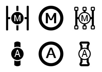Manual and automatic gearbox icons