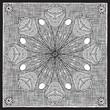 roleta: floral medallion woodcut