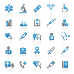 Blue Gray Web Icons - Medicine & Health - Set 6