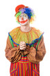 Portrait of a pensive clown