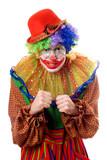 Portrait of an anger clown poster