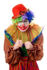 Portrait of an anger clown