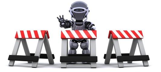 robot behind a barrier